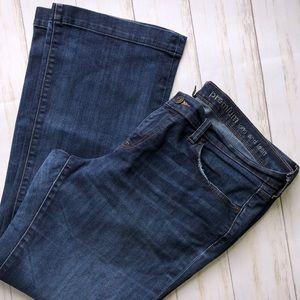 GAP Long & Lean Jeans Flare 14 32 Womens Dark Wash